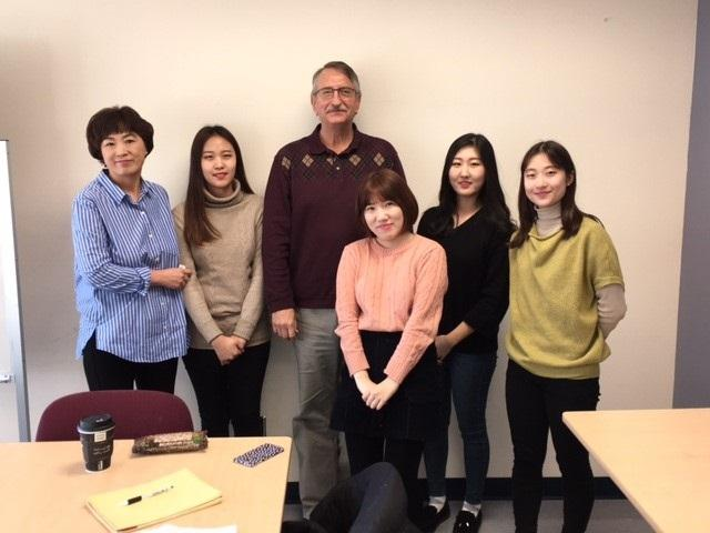 Rim and Pat with students from Ewha Womans University